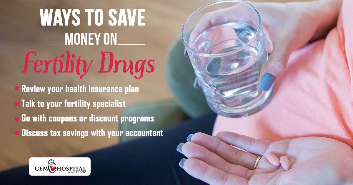Ways to save money on fertility drugs